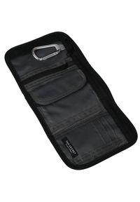 TOP SECRET - Materiałowy portfel na rzep. Kolor: czarny. Materiał: materiał