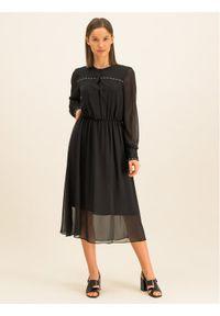 Czarna sukienka koszulowa DKNY