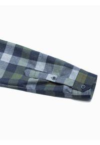 Brązowa koszula Ombre Clothing długa, z długim rękawem