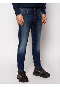 G-Star RAW - G-Star Raw Jeansy 3301 51001-C296-B843 Granatowy Slim Fit. Kolor: niebieski