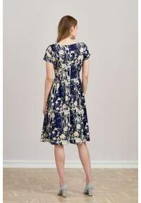 Marie Zélie - Sukienka Melania Kobe. Materiał: tkanina, bawełna, wiskoza, materiał. Długość rękawa: krótki rękaw