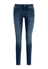 G-Star RAW - G-Star Raw Jeansy D07113-9425-071 Granatowy Super Skinny Fit. Kolor: niebieski. Materiał: jeans