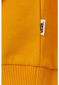 Vans - Bluza bawełniana. Kolor: żółty. Materiał: bawełna. Długość rękawa: raglanowy rękaw. Wzór: nadruk