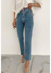 Niebieskie jeansy IVET z podwyższonym stanem, na co dzień, casualowe
