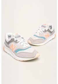 Szare buty sportowe New Balance z cholewką, na sznurówki
