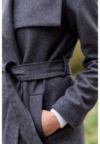 Marie Zélie - Płaszcz wełniany Adela szary. Kolor: szary. Materiał: wełna. Długość: krótkie. Sezon: zima #4