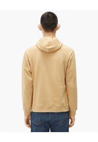 Kenzo - KENZO - Beżowa bluza z kapturem Tiger. Typ kołnierza: kaptur. Kolor: beżowy. Materiał: bawełna. Długość rękawa: długi rękaw. Długość: długie. Wzór: haft, aplikacja. Styl: klasyczny