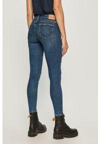 Pepe Jeans - Jeansy x Dua Lipa. Kolor: niebieski