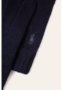 Polo Ralph Lauren - Rękawiczki. Kolor: niebieski