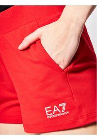 Czerwone spodenki sportowe EA7 Emporio Armani