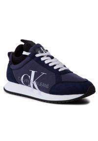 Niebieskie półbuty Calvin Klein Jeans z cholewką