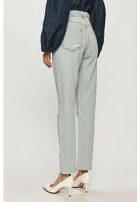 Niebieskie proste jeansy Guess z podwyższonym stanem