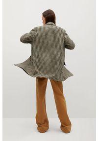 Brązowy płaszcz mango bez kaptura, casualowy
