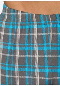 Piżama bonprix turkusowy w kratę. Kolor: szary. Długość: długie #4