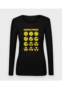 MegaKoszulki - Koszulka damska z dł. rękawem Radioaktywność. Materiał: bawełna