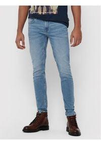Only & Sons - ONLY & SONS Jeansy Warp Life 22015149 Niebieski Skinny Fit. Kolor: niebieski