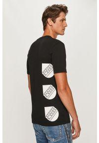 Czarny t-shirt Scotch & Soda casualowy, z nadrukiem, na co dzień