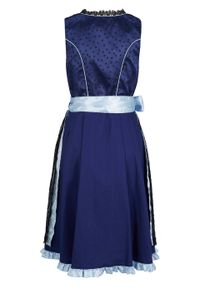 Niebieska sukienka bonprix klasyczna, z nadrukiem