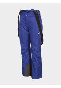 4f - Spodnie narciarskie damskie. Kolor: niebieski. Materiał: poliester. Sezon: zima. Sport: narciarstwo