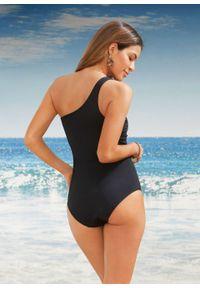 Kostium kąpielowy, przyjazny dla środowiska bonprix czarny. Kolor: czarny. Materiał: materiał