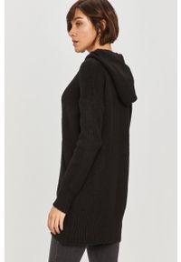 Czarny sweter Answear Lab z kapturem, z długim rękawem, wakacyjny, na co dzień