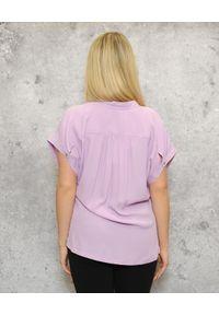 CRISTINAEFFE - Fioletowa jedwabna koszula. Kolor: różowy, fioletowy, wielokolorowy. Materiał: jedwab. Sezon: lato
