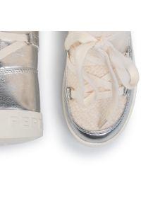 Beżowe kozaki Pepe Jeans z cholewką przed kolano, z cholewką