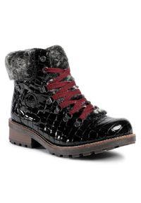 Czarne buty trekkingowe Rieker
