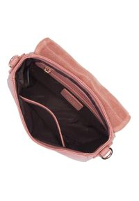 Wittchen - Damska listonoszka saddle bag z miękkiej skóry. Kolor: różowy. Wzór: haft, aplikacja. Sezon: lato. Dodatki: z haftem. Materiał: skórzane. Styl: elegancki