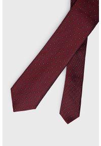 Calvin Klein - Krawat. Kolor: czerwony