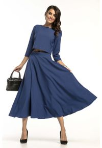 Niebieska bluzka Tessita krótka, elegancka