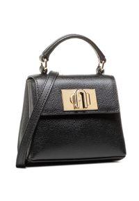 Czarna torebka klasyczna Furla klasyczna, skórzana