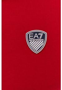 EA7 Emporio Armani - Polo. Okazja: na co dzień. Typ kołnierza: polo. Kolor: czerwony. Długość: krótkie. Wzór: aplikacja. Styl: casual