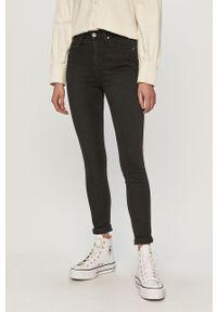 Czarne jeansy Lee gładkie