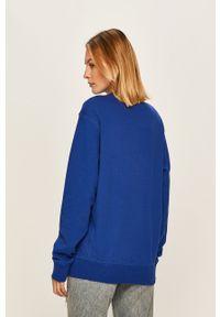 Niebieska bluza Russell Athletic casualowa, na co dzień, z aplikacjami