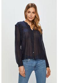 Pepe Jeans - Koszula bawełniana Albertina. Okazja: na co dzień. Kolor: niebieski. Materiał: bawełna. Długość rękawa: długi rękaw. Długość: długie. Styl: casual