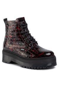 Czerwone buty trekkingowe Bronx