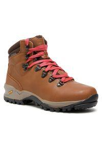 Brązowe buty trekkingowe CMP trekkingowe, z cholewką