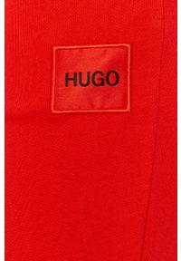 Czerwone spodnie dresowe Hugo gładkie