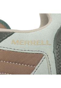 Zielone półbuty Merrell casualowe, na co dzień, z cholewką