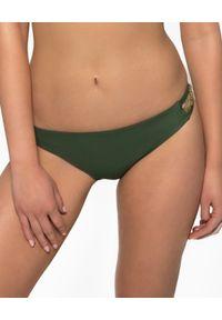 MISSION SWIM - Dół od bikini Ines. Kolor: zielony. Materiał: tkanina, materiał. Wzór: jednolity, ażurowy, geometria