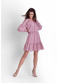 Różowa sukienka IVON boho