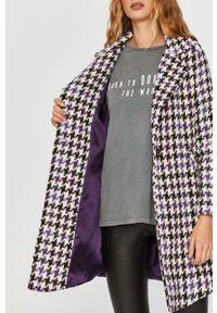Fioletowy płaszcz Answear Lab na co dzień, wakacyjny, bez kaptura