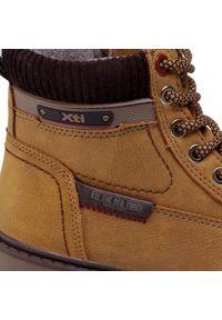 Xti - Trapery XTI - 57231 Panama. Kolor: brązowy. Materiał: skóra ekologiczna, materiał. Szerokość cholewki: normalna