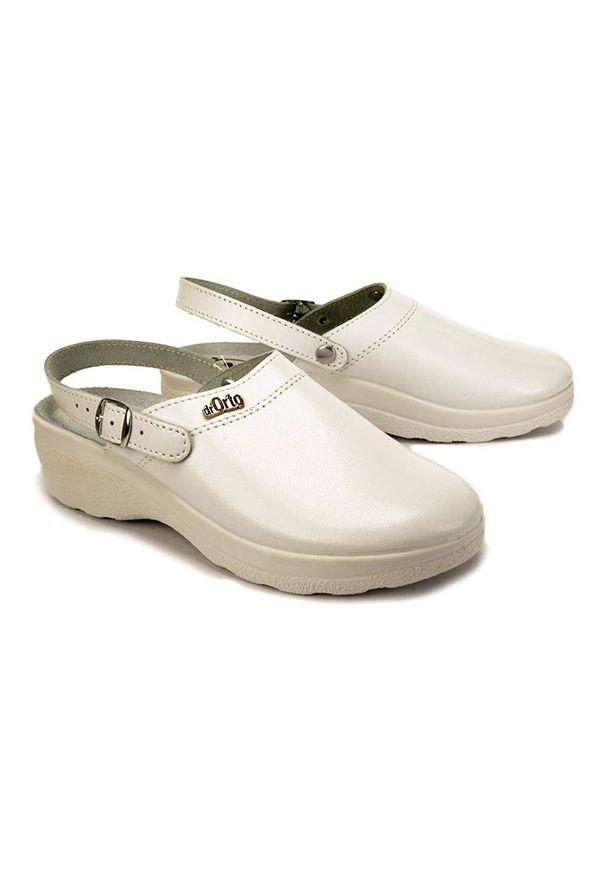 Białe klapki Befado Dr Orto