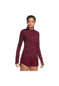 Koszulka damska do biegania Nike Element Flash CU3391. Materiał: poliester, dzianina, materiał, elastan. Technologia: Dri-Fit (Nike). Długość: krótkie. Wzór: gładki, aplikacja