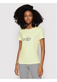 Guess T-Shirt Glenna W1GI0C I3Z11 Żółty Regular Fit. Kolor: żółty