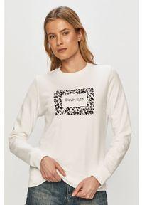 Biała bluza Calvin Klein casualowa, długa