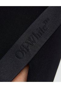 OFF-WHITE - Czarna spódnica z rozcięciem. Stan: podwyższony. Kolor: czarny. Materiał: materiał. Styl: klasyczny