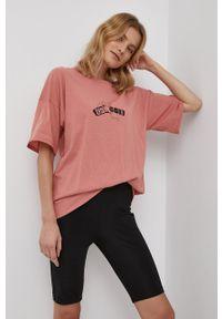 Volcom - T-shirt bawełniany. Kolor: pomarańczowy. Materiał: bawełna. Wzór: nadruk
